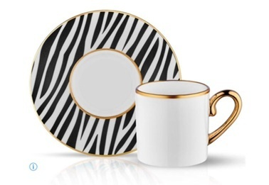 Koleksiyon Eva Zebra 6'Lı Türk Kahvesi Takımı Renkli